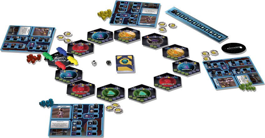 Cosmic Pioneers Game Setup